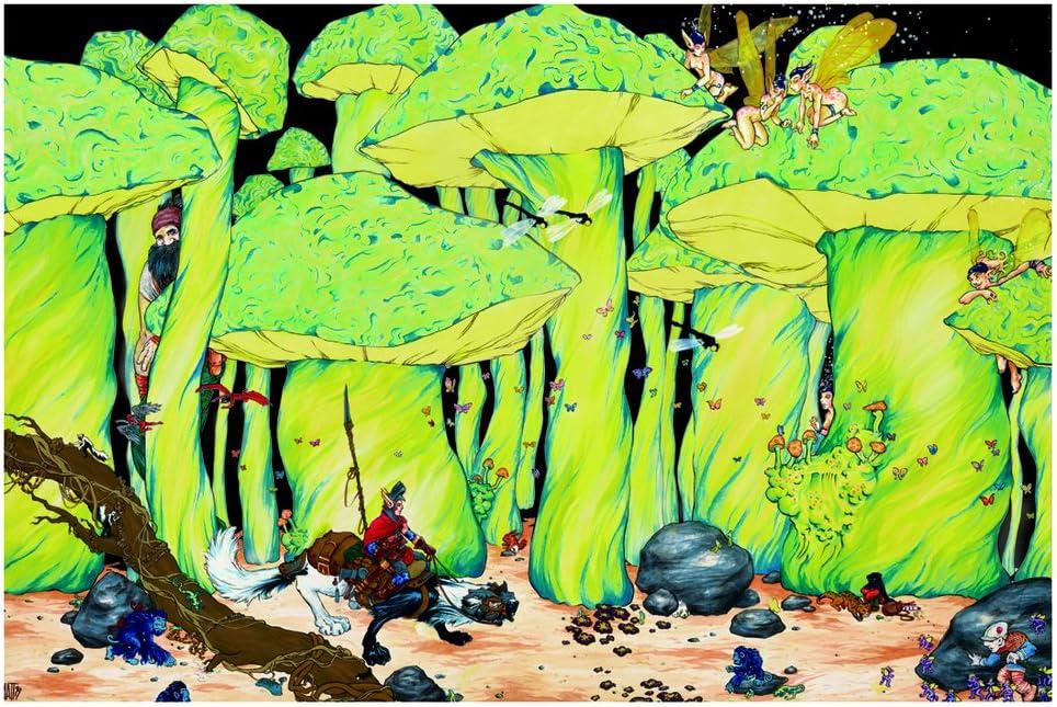 Studio B Enchanted Forest Fantasy Art Blacklight Poster 32x22 inch