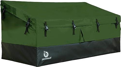 YardStash Outdoor Storage Deck Box XL Easy Assembly, Portable, Versatile 150 Gallon, 20 Cubic Feet, Green