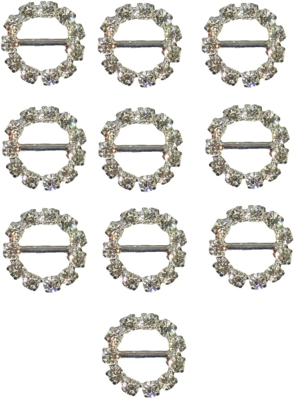 Diamante Rhinestone Buckles Ribbon Sliders Wedding Decor Bridal Embellishments