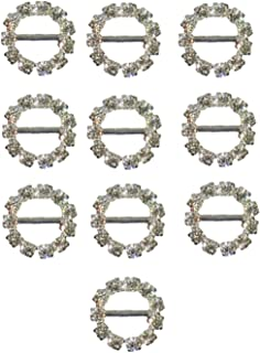 SILVER SQUARE RIBBON SLIDERS WEDDING EMBELISHMENTS 11mm and 16mm