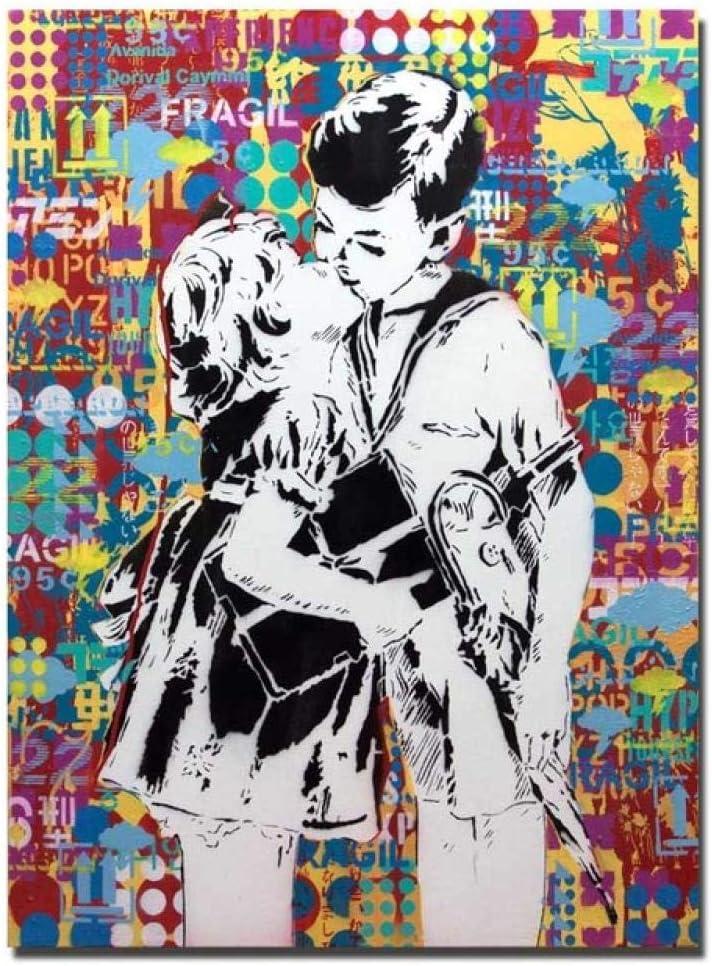 mmzki Bolsas de Lona para Decorar Carteles e Impresiones de Graffiti de Dibujos Animados Modernos de Arte Callejero Cuadros de Pared de Lienzo para Sala de Estar Decoración de dormio para niños Cuadr