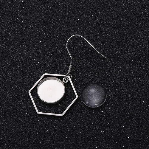 Exceart 12 Paare Ohrring Cabochon Anhänger Tablett mit DIY