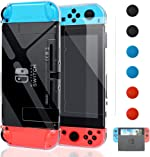 Dockable Cover Case for Nintendo Switch, FYOUNG Protective Case for Nintendo