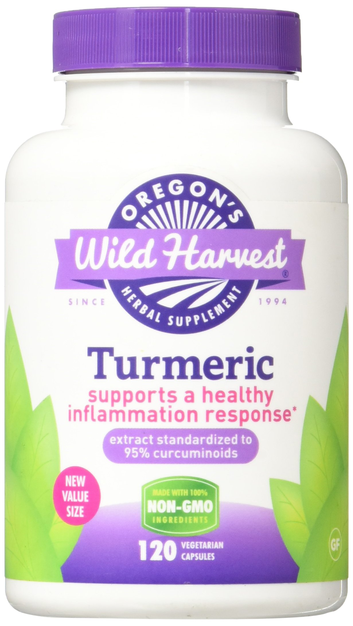 Oregon's Wild Harvest Turmeric - 120 Veg Caps