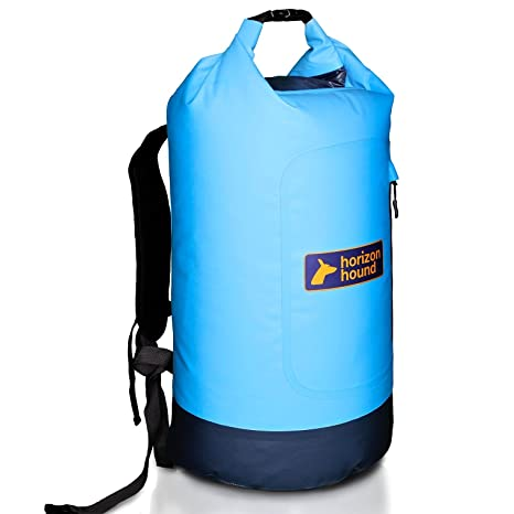 7f268e15120d 28 LITRE ALL WEATHER DRY BAG - Premium Waterproof Back Pack with padded  shoulder straps and