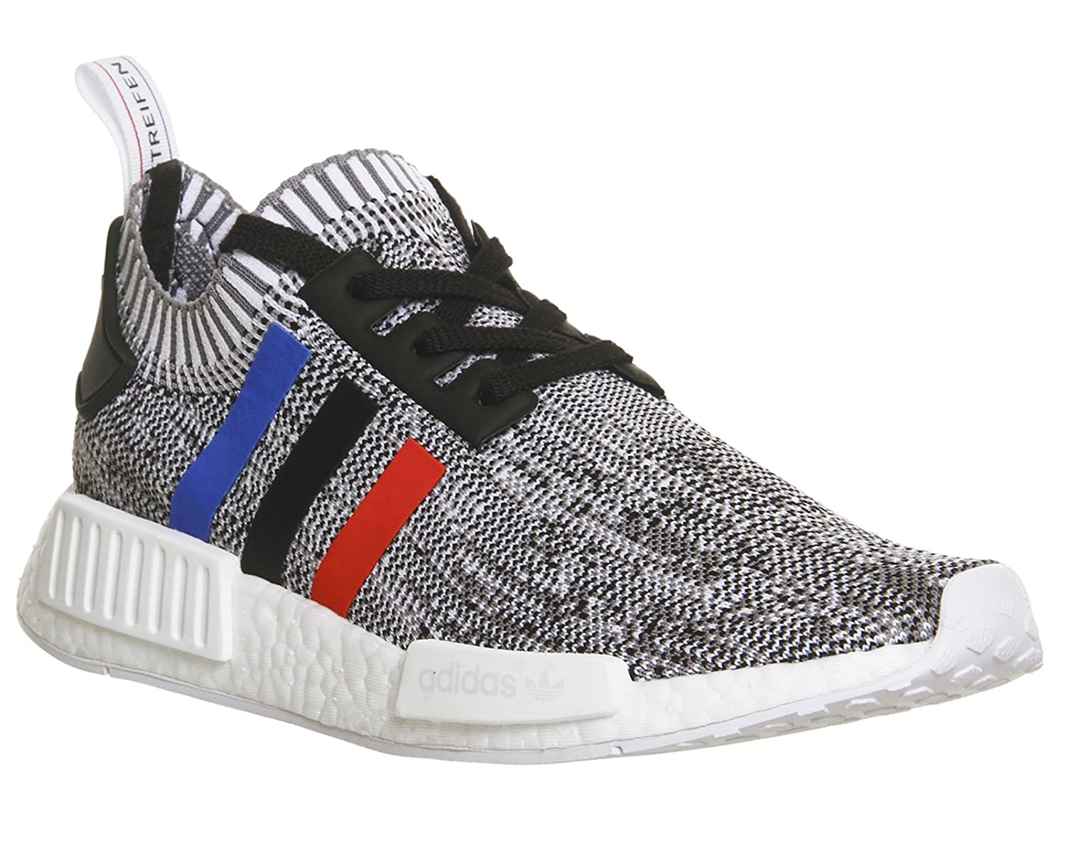 Adidas Men's Nmd R1 Ankle-High Fabric Running Shoe B01MS10SSU 4.5 D(M) US|White/Core Red/Core Black