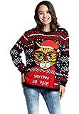 YOU LOOK UGLY TODAY Unisex Women's Ugly Christmas Jumper Funny Santa Reindeer Elf Xmas Sweater Top
