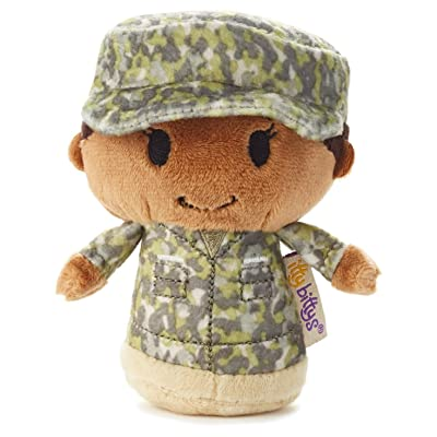 Hallmark Itty Bitty Green Military Camo African-American Girl: Toys & Games