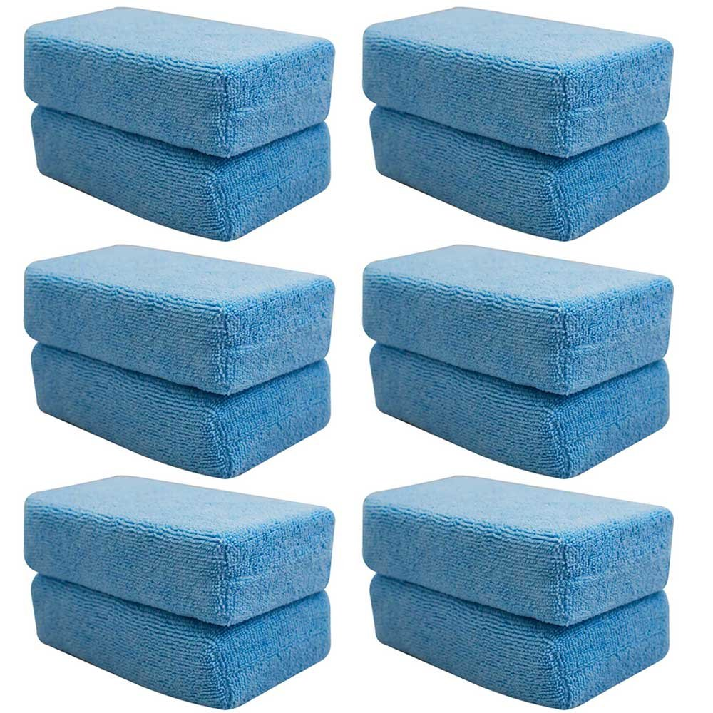 Chemical Guys MIC_292_08 Premium Grade Microfiber Applicators, Blue (Pack of 8)