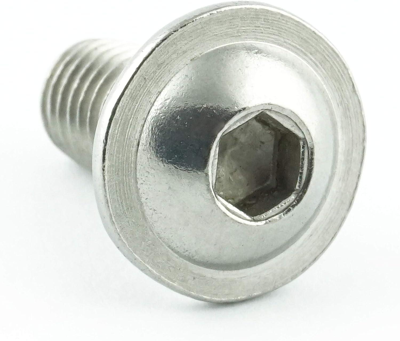 - ISO 7380 Linsenkopf Schrauben mit Flachkopf und Bund rostfrei Gewindeschrauben Eisenwaren2000 M4 x 30 mm Linsenkopfschrauben mit Innensechskant und Flansch Edelstahl A2 V2A 30 St/ück