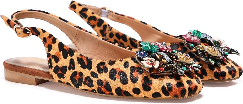 leopard print slingback flats