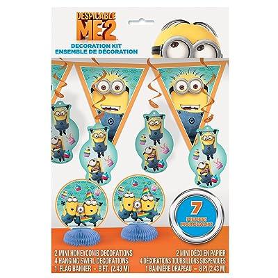 Despicable Me Party Decoration Kit, 7pc: Toys & Games
