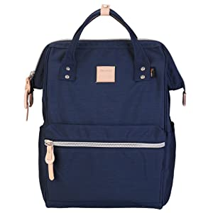 "Himawari Travel Backpack Large Diaper Bag School multi-function Backpack for Women&Men 17.7""x11.8""x7.9"" (Navy blue&plus)"