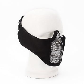 Wwman Demi Masque Visage Tactique Et Pliable Avec Protection Des