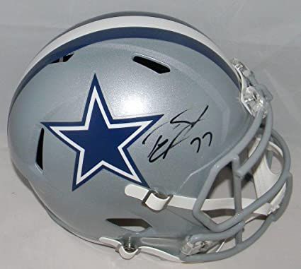 5bc737222 Tyron Smith Autographed Helmet - Full Size Speed - JSA Certified -  Autographed NFL Helmets