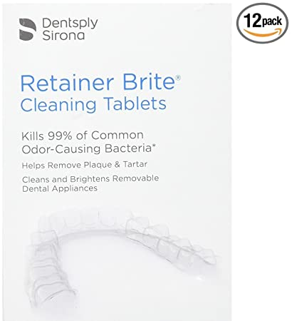 Amazon Retainer Brite Cleaning Tablets 12 Tablets Beauty