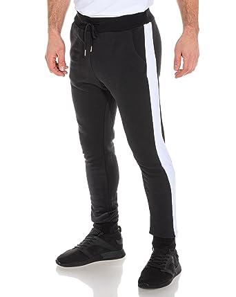Frilivin - Pantalon de Jogging Homme Noir Bande Blanche - Couleur  Noir -  Taille  35613ad1881