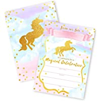 Magical Unicorn 12 LARGE Invitations