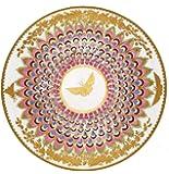 ashm olean Teller, disegno farfalla, laccato, Smalto, per picnic e campeggio, dorato