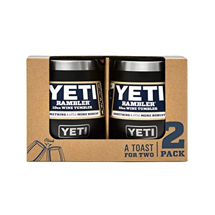 6f3dab8d179 YETI Rambler 10 oz Stainless Steel Vacuum Insulated Wine Tumbler, 2 Pack,  Black