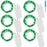 Fairy String Lights with Screwdriver, SENHAI Set of 6 LED Lights Copper Wire, 20 LED Bulbs for Bedroom House Party Wedding Concert Festival Halloween Christmas Tree Decoration - Green