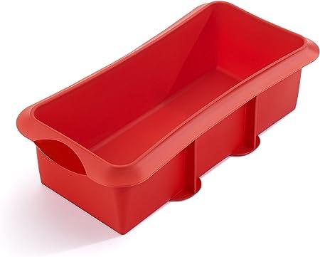 Oferta amazon: Lékué Rectangular 28 Rojo Molde Repostería, Silicona, 28 cm