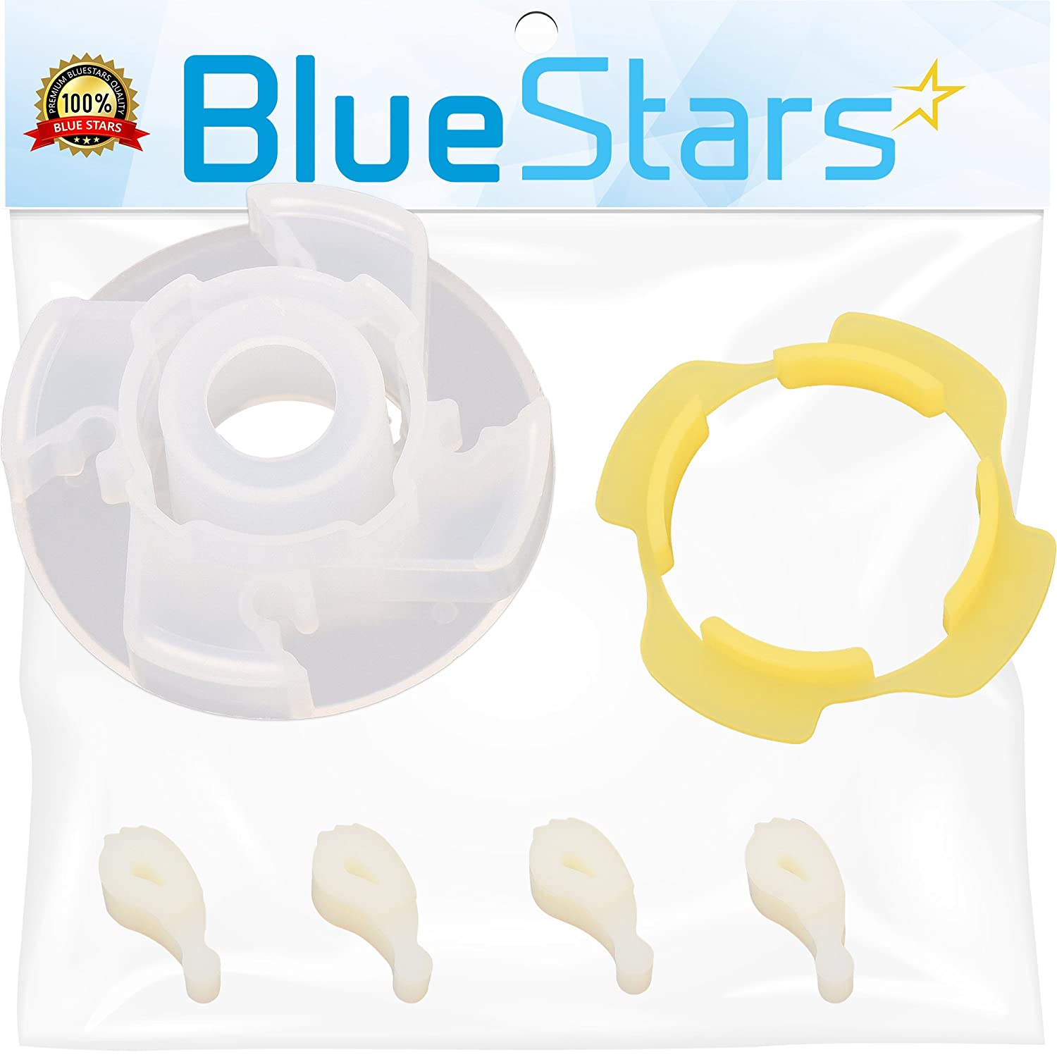 Ultra Durable 285809 Short Cam Agitator Repair Kit by Blue Stars - Exact Fit for Whirlpool & Maytag washers - Replaces 3951650 3951682 AP3094543 PS334648