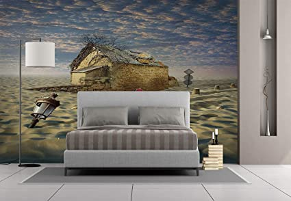 Enjoyable Amazon Com Large Wall Mural Sticker Surrealistic Lost In Download Free Architecture Designs Embacsunscenecom