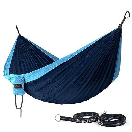 ultra durable camping double hammock nylon parachute fabric    pact  u0026 portable for indoor amazon    ultra durable camping double hammock nylon parachute      rh   amazon