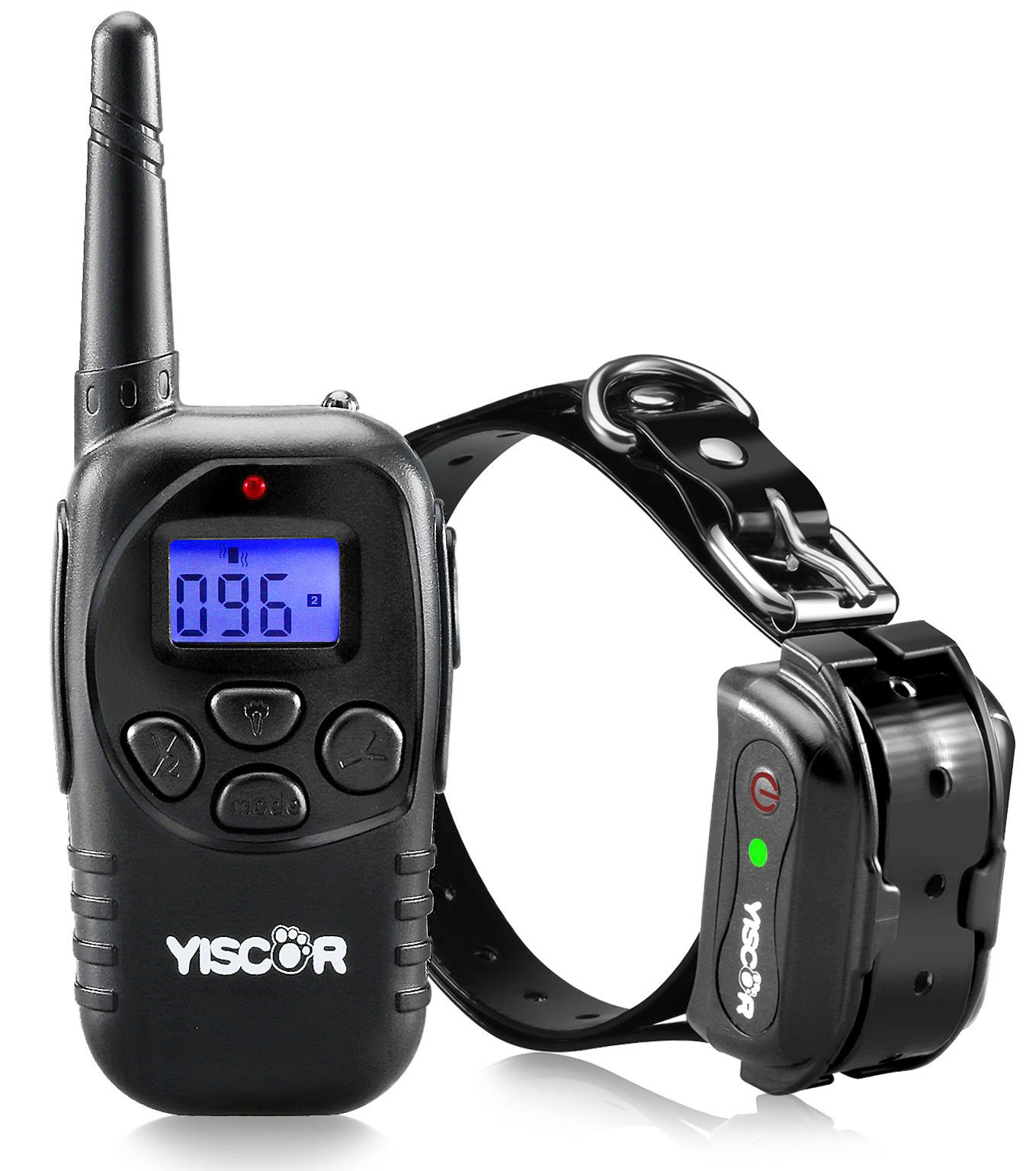 YISCOR Shock Collar for Dogs, Upgraded Dog Training Collars, Remote Waterproof and Rechargable with Shock, Vibration, Beep, And Light,Electric for Small and Large Dogs 1000Ft Range