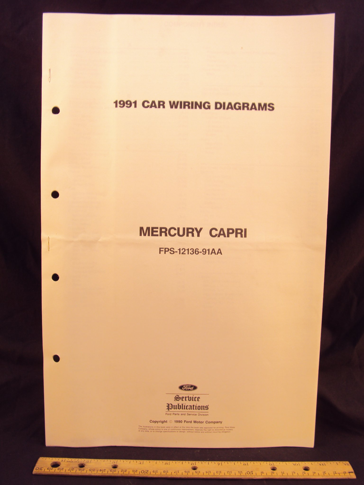 1991 mercury capri electrical wiring diagrams schematics ford Dodge Stealth Wiring-Diagram 1991 mercury capri electrical wiring diagrams schematics loose leaf \u2013 january 1, 1990