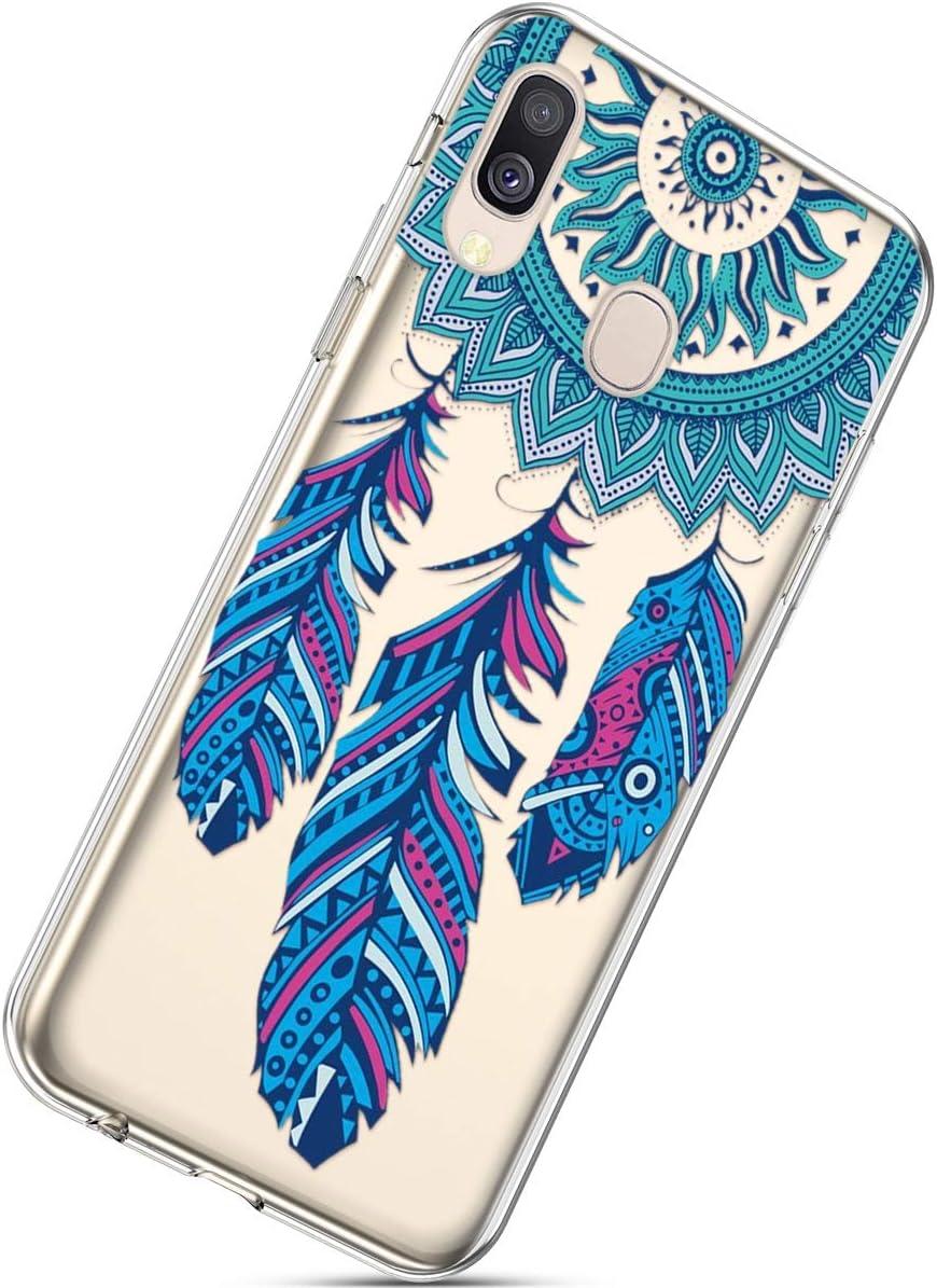 Kratzfestes Schutz Geh/äuse f/ür Samsung A40# 11 Clear Ultra Slim Weiche TPU Flexibles Gemalte Schale Silikon Gummi Sto/ßfest Leichtes Qjuegad Kompatibel mit Samsung Galaxy A40 Klare H/ülle