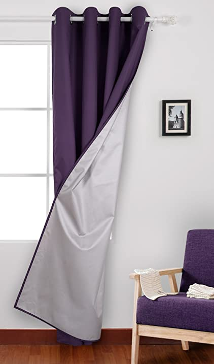 Deconovo Thermal Insulated Drapes With Backside Silver Backing Curtains For  Living Room 52 W X 84
