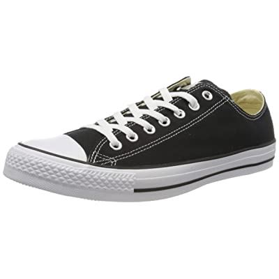 Converse Chuck Taylor All Star Canvas Low Top Sneaker, Black/White, 9.5 Men/11.5 Women | Fashion Sneakers
