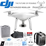 DJI Phantom 4 Pro Quadcopter Drone CP.PT.000488 Travel Bundle includes Drone, Hardshell Backpack, Intelligent Flight Battery, 4 Propeller Guards, 32GB MicroSD Memory Card and Virtual Reality Viewer