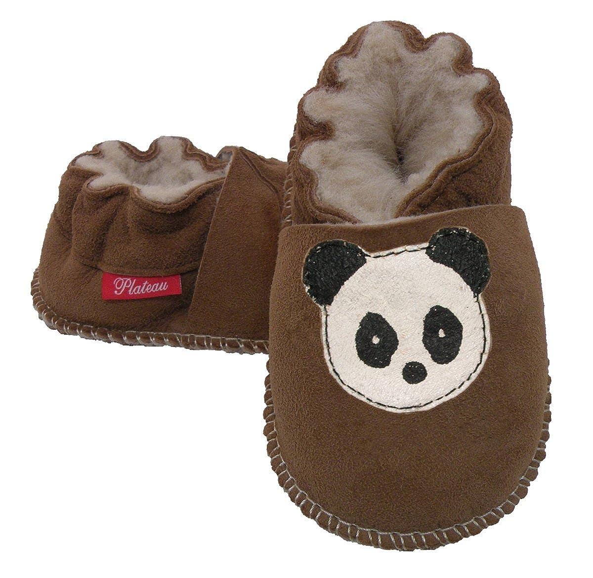 Plateau Tibet - ECHT LAMMFELL Baby Kinder Schuhe Babyschuhe Krabbelschuhe Jungen Mä dchen Lammfellschuhe - Panda - in verschiedenen Farben und Grö ß en