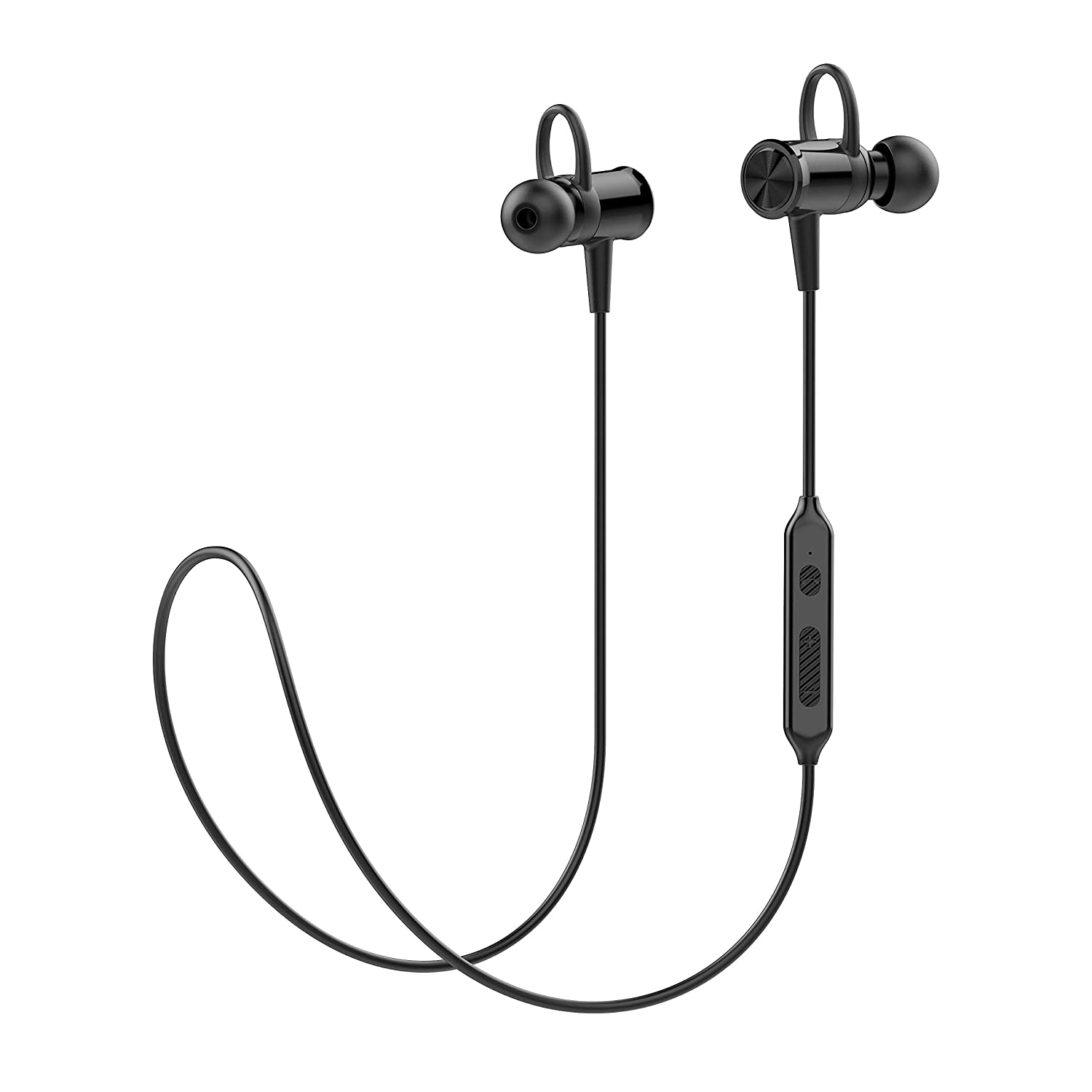 Bluetooth Headphones Running Headphones KindaiYi Best Wireless Sports Earphones w Mic IPX4 Waterproof Sweatproof Cordless in Ear Earbuds Noise Cancelling for Gym Workout 10 Hours Battery Life Black
