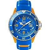 ICE-Watch - Montre Homme - Quartz Analogique - Cadran Bleu - Bracelet Silicone Bleu