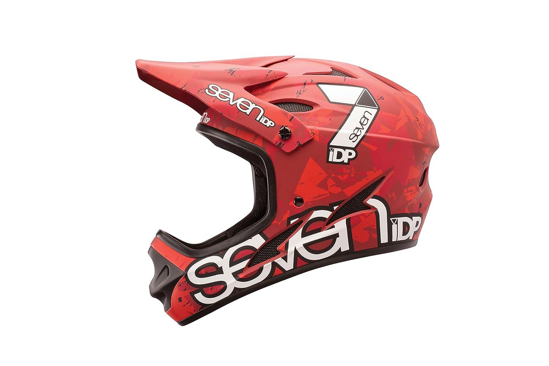 Rojo//Blanco Unisex Adulto 7 Protection M1 Casco Ciclismo Monta/ña M