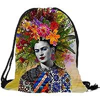 Dunbasi Frida Sacs à Cordon Sac à Dos pour Femme/Fille, Natation Sports Sac de Sport, Sacs d'école, Stockage de Sac à Dos de Voyage