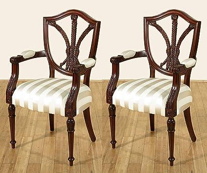 SALE   PAIR Of 2 Mahogany Hepplewhite Arm Chair F 224 52   QTY