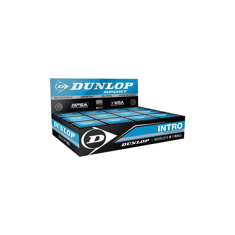 Dunlop Lot de 12 balles de squash qualit/é professionnelle