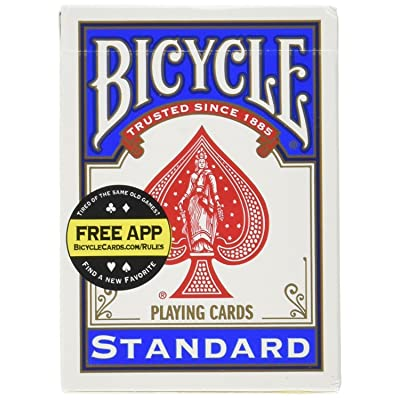 Bicycle Standard Index Playing Cards 1 Deck, Colors may Vary (Red or Blue) : Sports & Outdoors