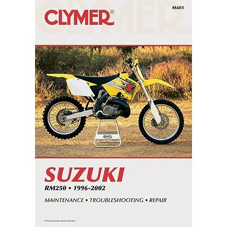amazon com 96 00 suzuki rm250 clymer service manual suzuki rh amazon com 1978 Suzuki RM 250 1999 Suzuki RM 250 Specs