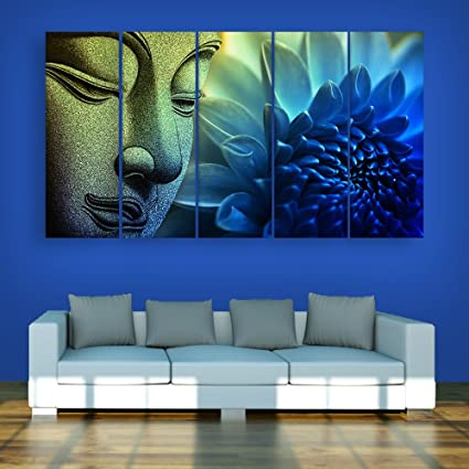 Attractive Inephos Multiple Frames Beautiful Buddha Wall Painting For Living Room,  Bedroom, Office, Hotels
