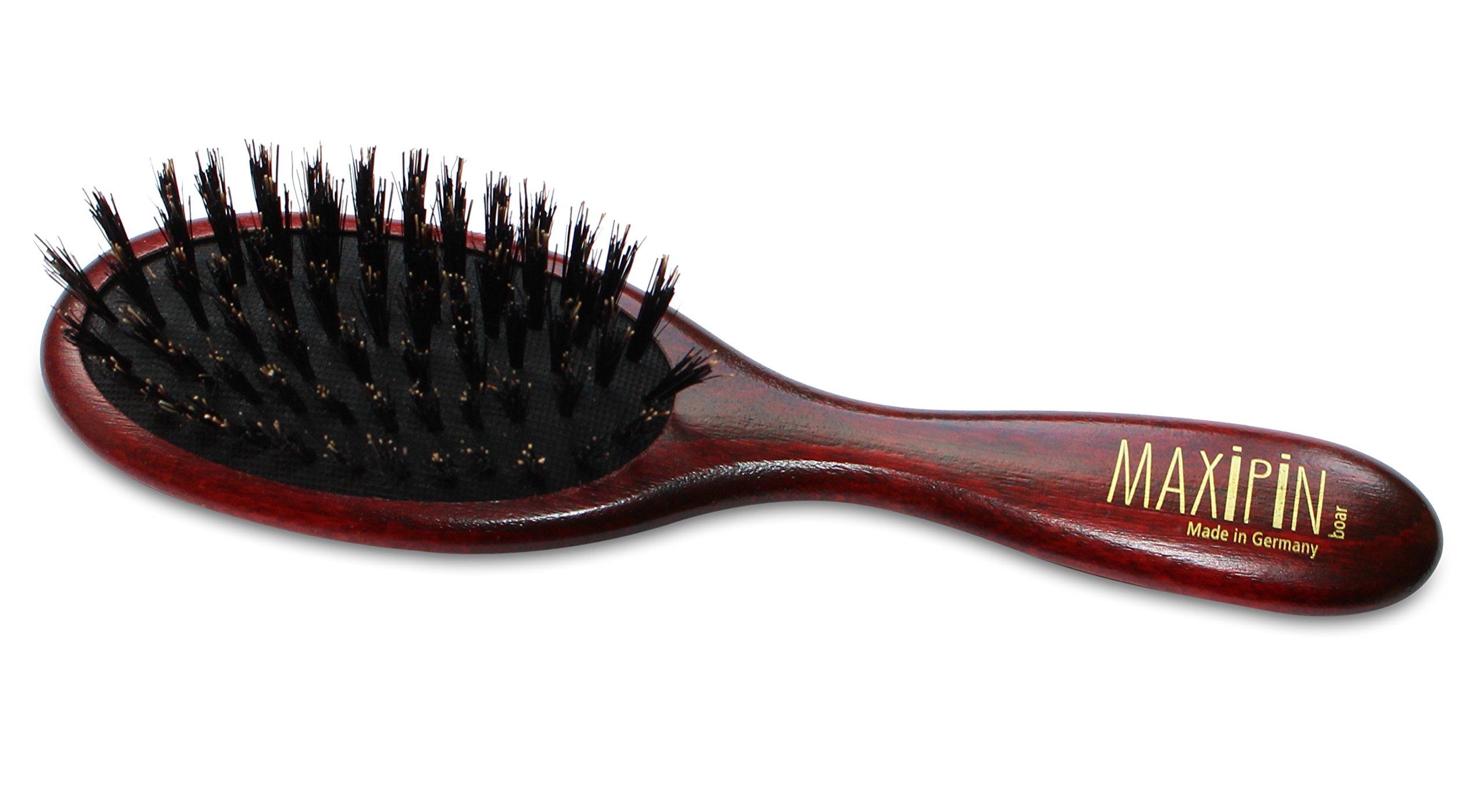 Mars Professional Advanced Maxipin Boar Bristle Dog Hair Brush, Solid Wood Handle and Boar Bristles, 7.25'' Length