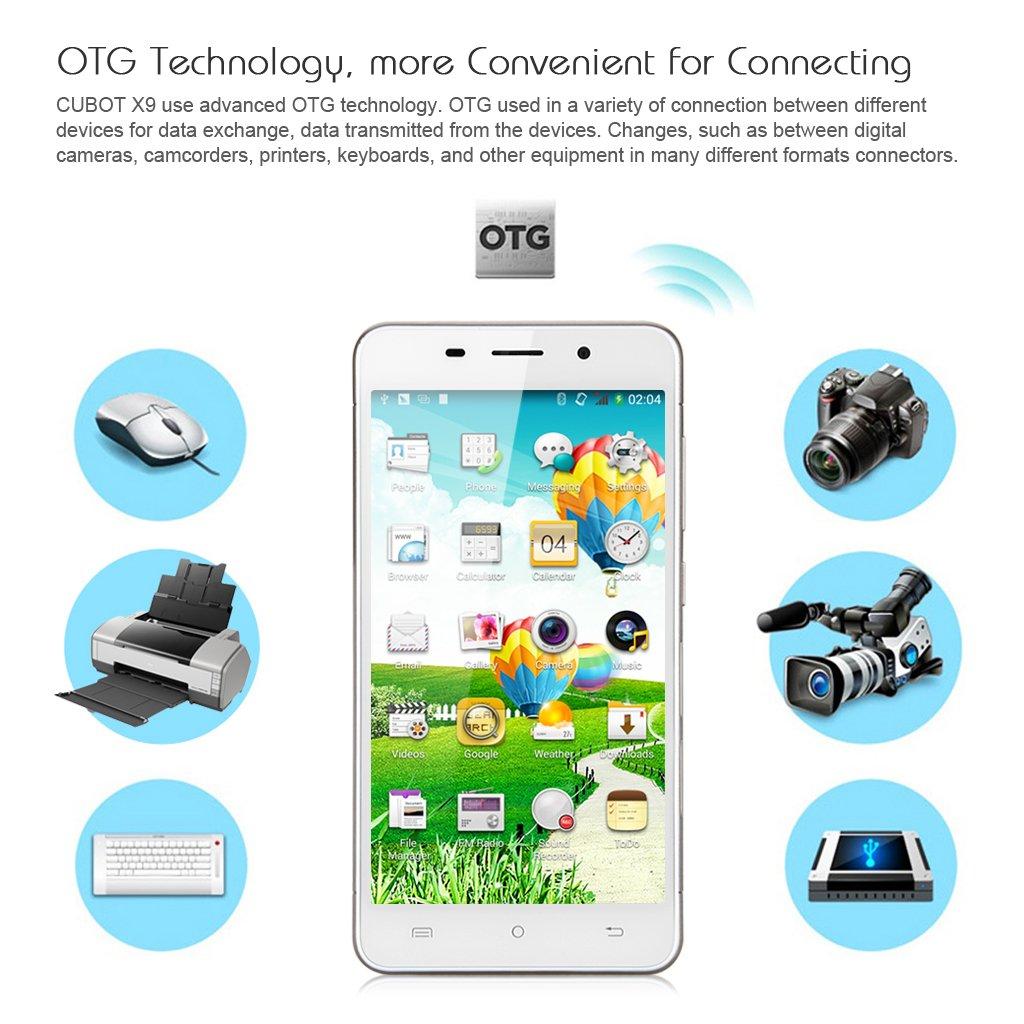 CUBOT X9 5,0 pulgadas IPS HD pantalla 3 Smartphone HotKnot ...