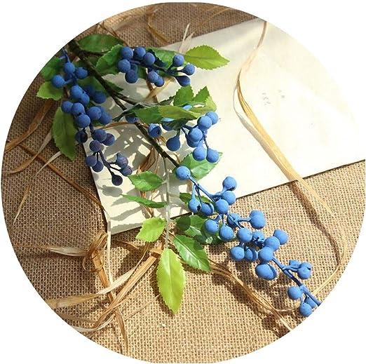 Artificial Green Leaf Berry Fruit Bouquet Home Garden Wedding Party Decorative L