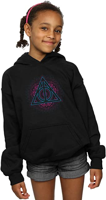 Harry Potter Fille Neon Deathly Hallows Sweat À Capuche