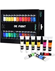 Ohuhu Oil Paint Set, 24 Oil-Based Colors, Artists Paints Oil Painting Set, 12ml x 24 Tubes